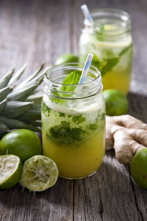 Pineapple Ginger Mojitos
