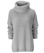 Gina Tricot - Maud knitted sweater Greymelange (8010)