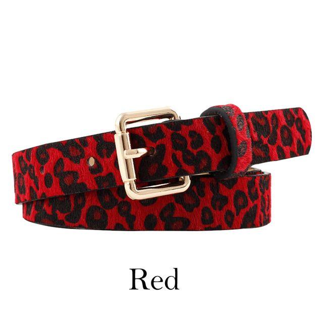 Belt cummerbund women horsehair belt with leopard pattern