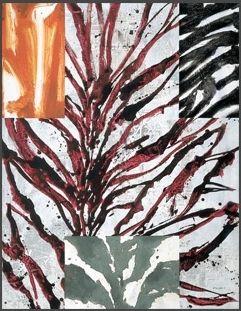 "gérard titus-carmel - ""quartiers d'hiver - peinture n.2"", 1999, acrylic and paper glued on vellum."