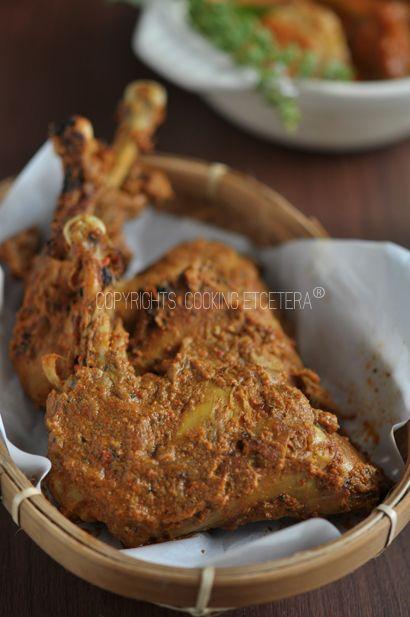 Ayam Bakar Padang (grilled chicken with padang sauce)