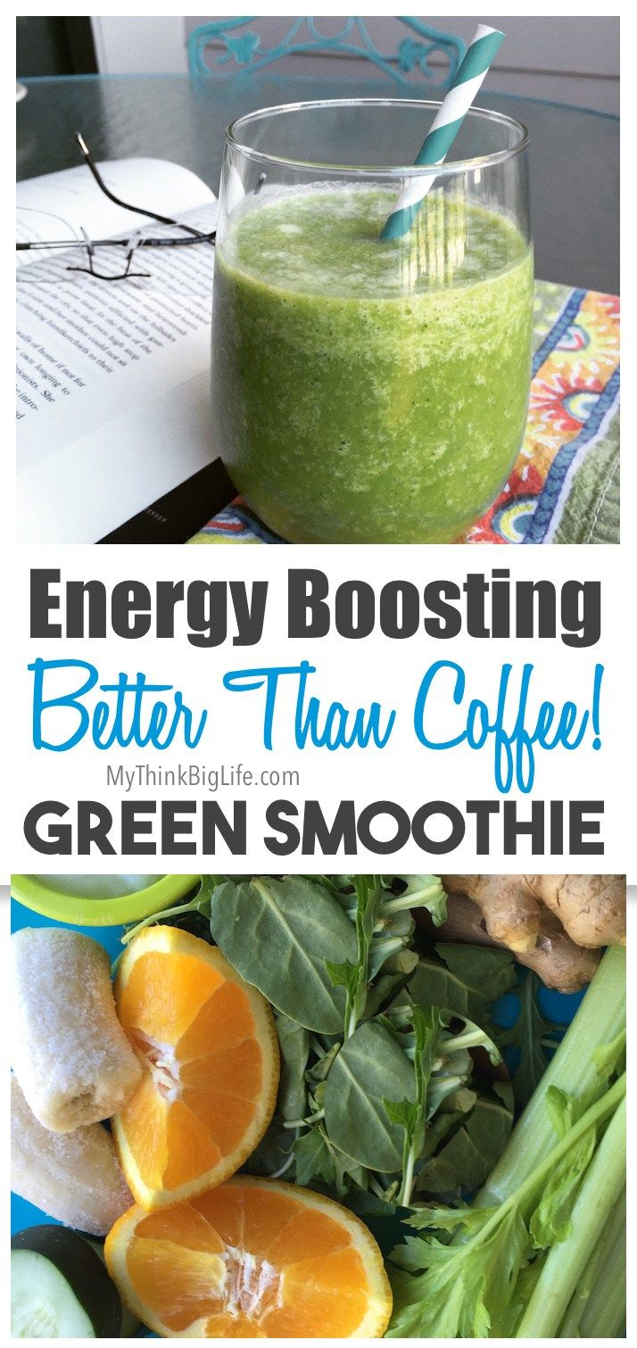 Do you want to raise your energy without caffeine? This energy boosting green smoothie, full of nutritious vegetables.