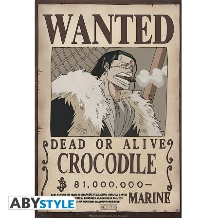 ONE PIECE Poster One Piece Wanted Crocodile (52x35)