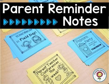 There are 80 reminder notes in English and Spanish to fit every occasion throughout the year. Each page is formatted with six notes for easy printing and cutting. I also have included four notes per page if you want larger notes for the English notes. You can just print out the notes and pass them out to your students for quick reminders from Back to School Night to Field Day to IEP meetings.