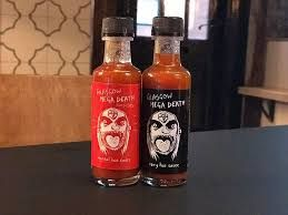 Image result for glasgow mega death hot sauce