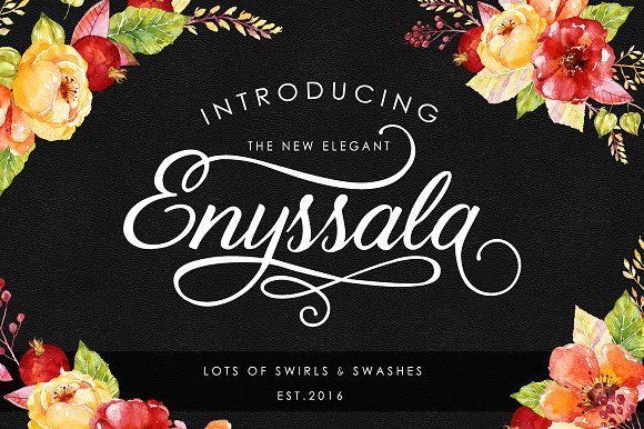 Enyssala Script - Elegant font by BlackCatsMedia on @creativemarket