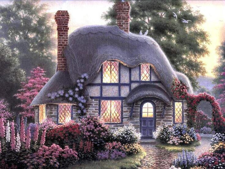 Twilight At The Tilden Cottage By Richard Burns Paper