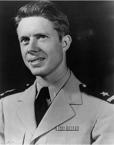 Young Jimmy Carter in uniform. - Help Us Salute Our Veterans by supporting their businesses at www.VeteransDirectory.com, Post Jobs and Hire Veterans VIA www.HireAVeteran.com Repin and Link URLs