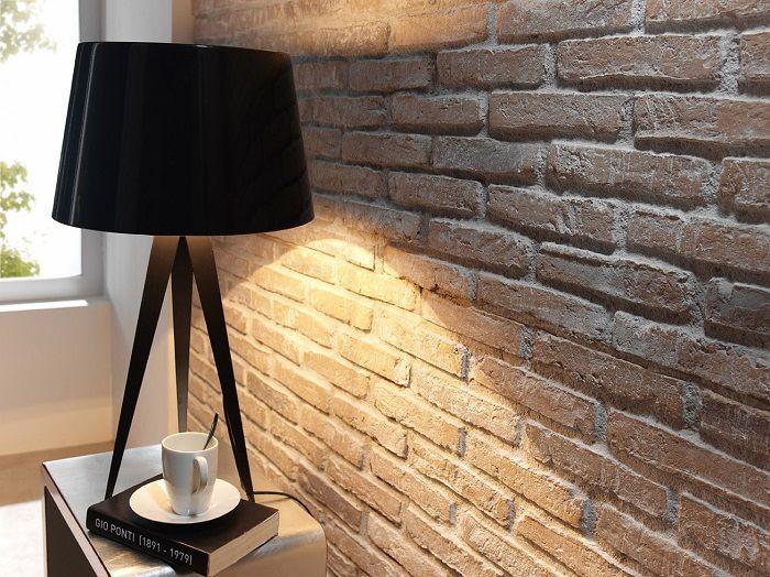 Como hacer una pared de ladrillo visto en el interior de tu casa con plaqueta decorativa para una decoración estilo industrial. Resultado espectacular.
