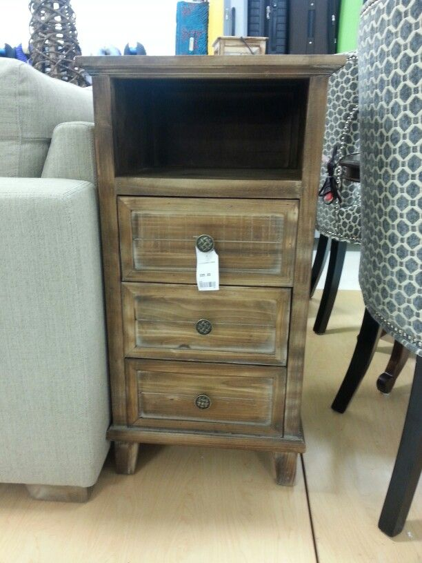 I love the finish on this lil side table. Found it at my local Marshalls store.