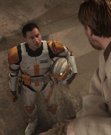 Commander Cody speaking to Jedi Master Obi-Wan Kenobi