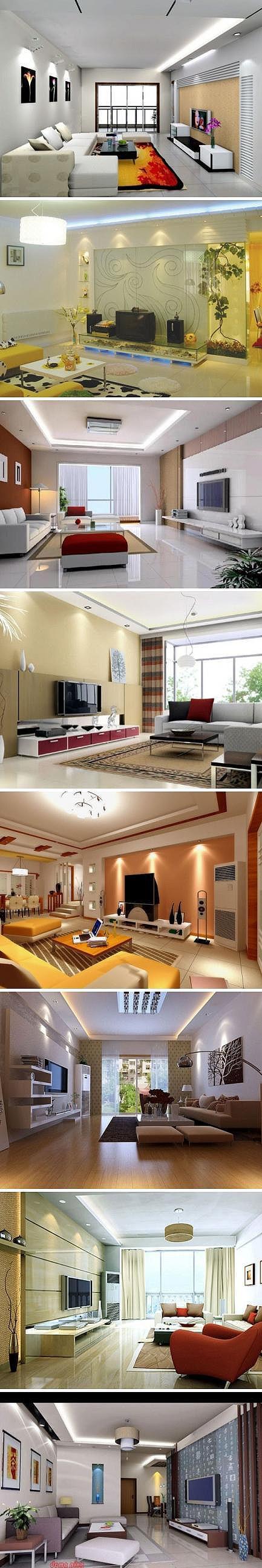 Los 8 modelos habitación sencilla y elegante sala de estar ~ ~ - Foto casa libros recogidos Chaomei ...