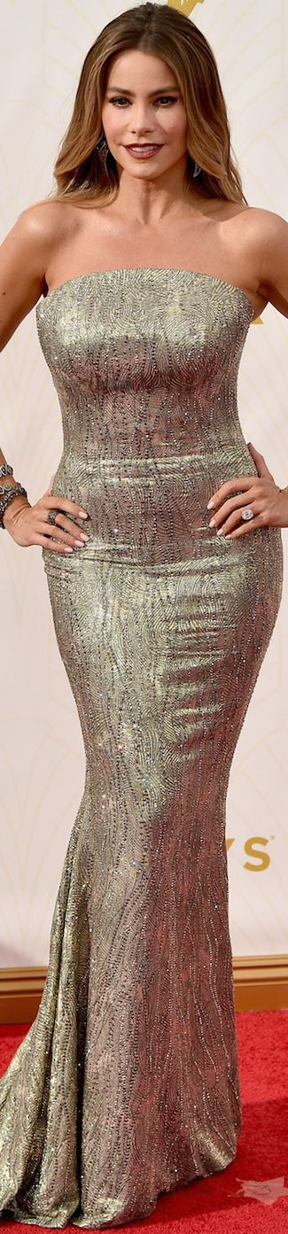 Sofia Vergara in St. John 2015 Emmy Awards