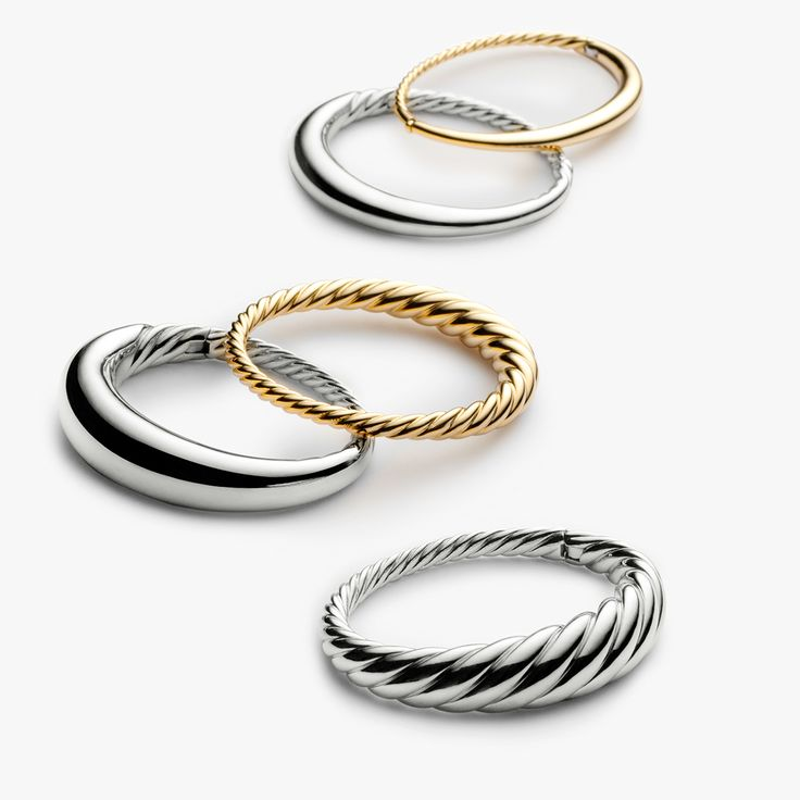 The new David Yurman Pure Form Collection is the perfect expression of  precious gold and silver