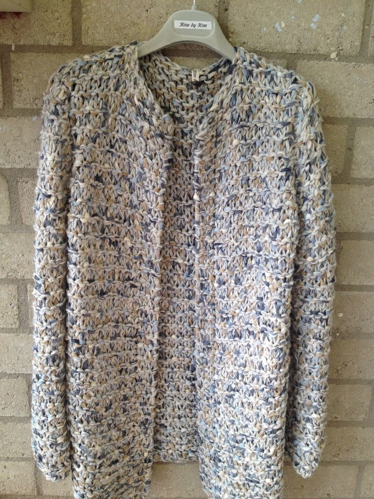 Summer handknitted coat