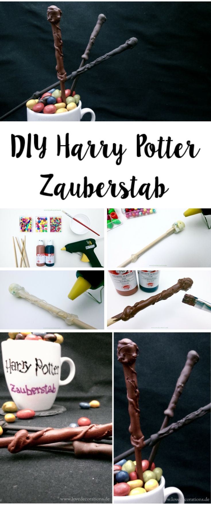 DIY Harry Potter Zauberstab  //  DIY Harry Potter Magic Wands