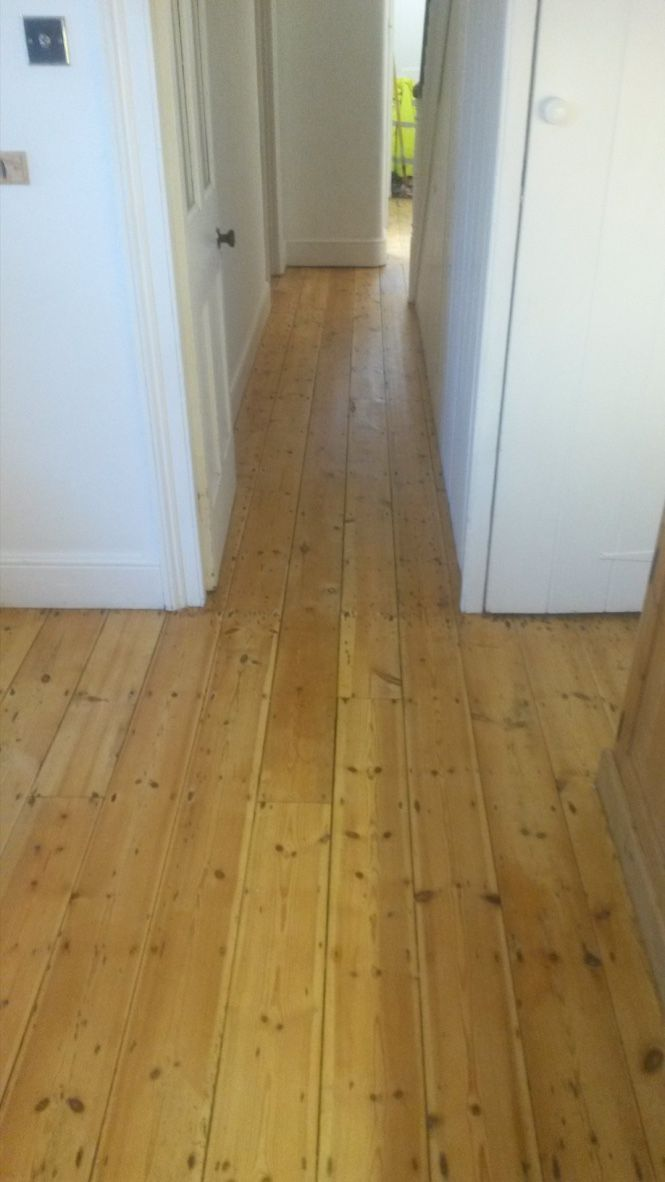 Hardwood Floor Boards In Hallway Weymouth Sanded And Lacquered Which Made Seem Larger