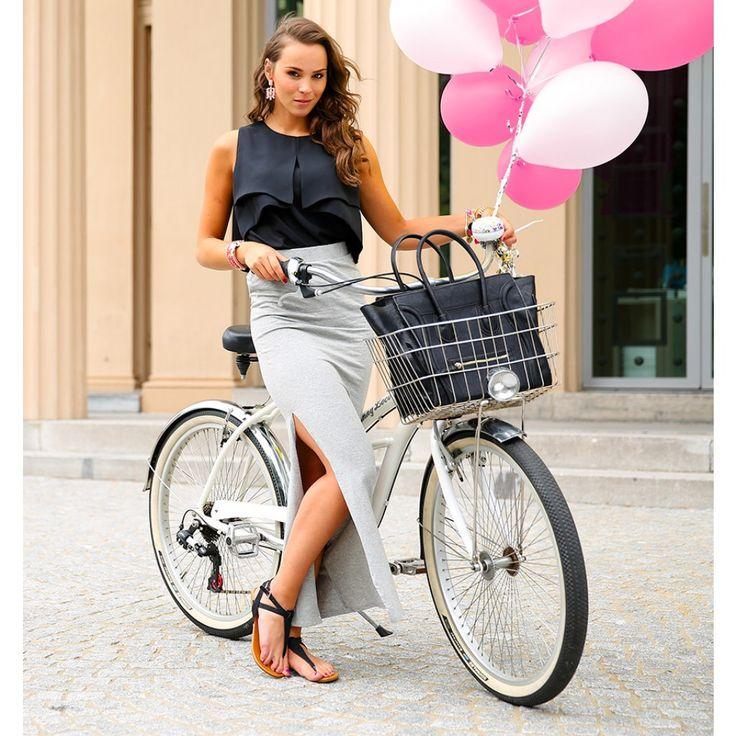 Grijze maxi skirt   Fashion Webshop