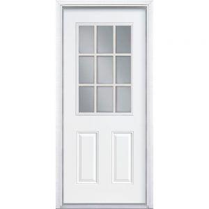 9 Lite Exterior Door Fiberglass
