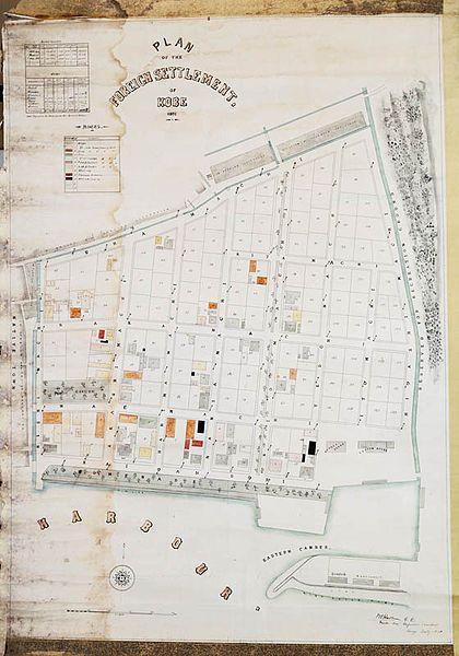 ファイル:Plan of the Foreign Settlement of Kobe (1870) 001.jpg
