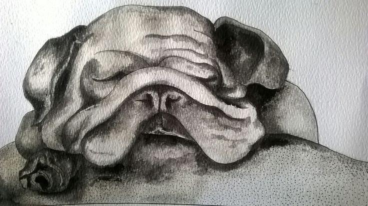 SLEEPING BEAUTY. Watercolor