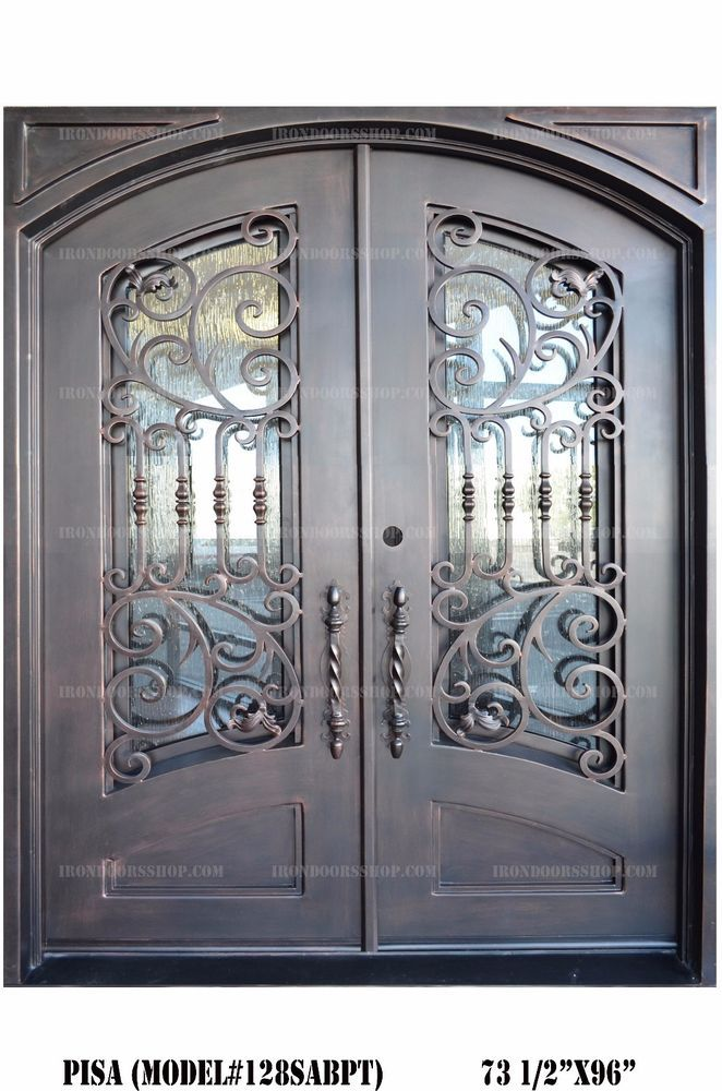 Details About Pisa Wrought Iron Double Door Eyebrow Top Straight
