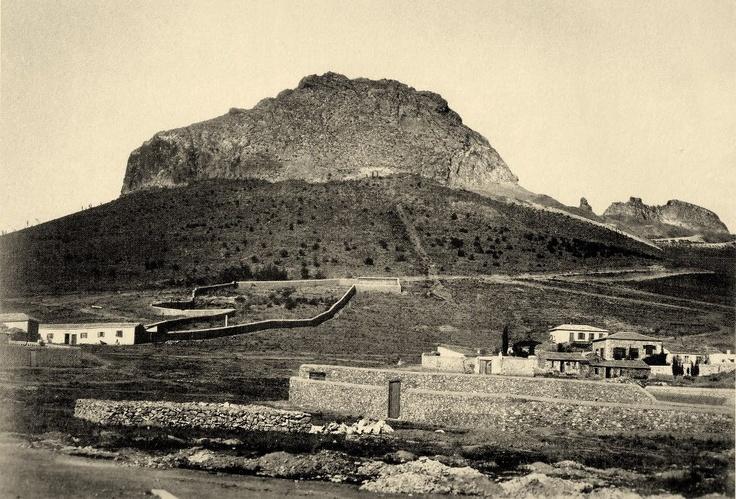 ΑΘΗΝΑ 1864, Το Σύνταγμα και ο Λυκαβηττός - Lycabetous hill from Syntagma sqr, #solebike, #Athens, #e-bike tours.