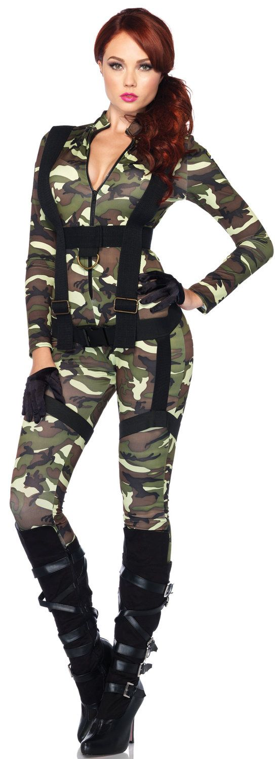 sexy paratrooper army costume
