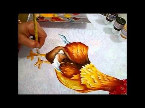 Técnica de pintura em tecido (Rosi) - YouTube
