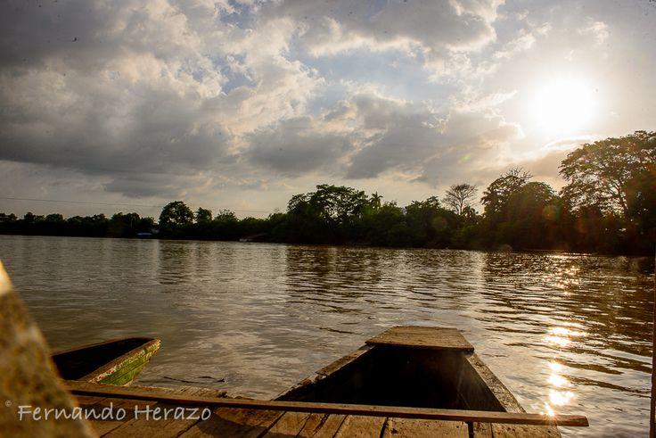 Atardecer en el rio Sinú #Colombia #Monteria