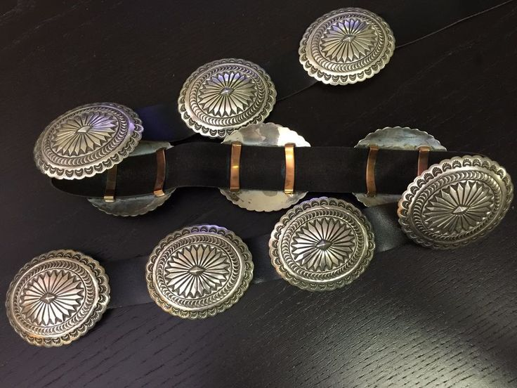 Rare 1970's Navajo signed hand stamped concho belt crafted in solid. 925 sterling silver. Jewelry Type: Concho Belt |. Quality SOLID SILVER Navajo concho belt. Perfect gift for your loved one or for yourself. | eBay!
