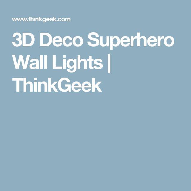 3D Deco Superhero Wall Lights | ThinkGeek