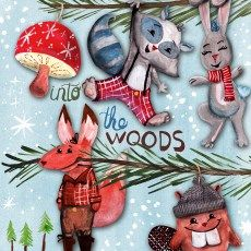 Steph Calvert/Into the Woods Christmas Ornaments represented by Liz Sanders Agency