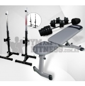 Force USA Folding FID Bench, Squat Stand & 50kg Barbell/Dumbell Package  This package includes:  - Force USA Folding Flat/Incline/ Decline Bench - Force USA Squat Stands - 50kg Barbell / Dumbbell Set  The Force USA Folding Flat/Incline/ Decline Bench is a super convenient workout bench which can be folded flat.   For more info visit: http://www.gymandfitness.com.au/force-usa-folding-fid-bench-squat-stand-50kg-barbell-dumbbell-package.html
