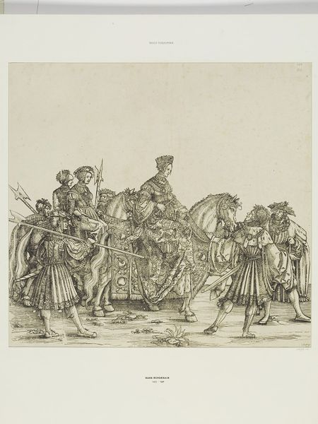 Albrecht Dürer workshop: Princess Eleanor, daughter of King Philipp., (A.:122) woodcut, Triumphal procession of Emperor Maximilian I., ca. 1516 - 1519, currently attributed to Hans Springinklee (?), V&A Search the Collections