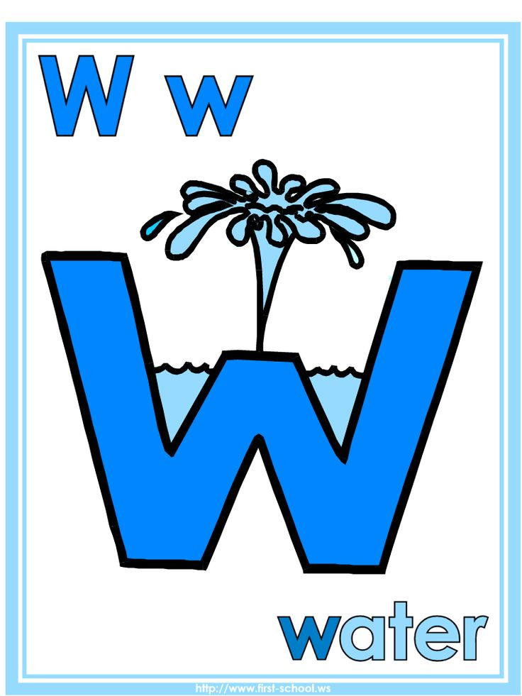 Letter W Water theme lesson plan printable activities: poster, coloring page, handwriting worksheet & more.  [Water Cycle Activities & Weather]