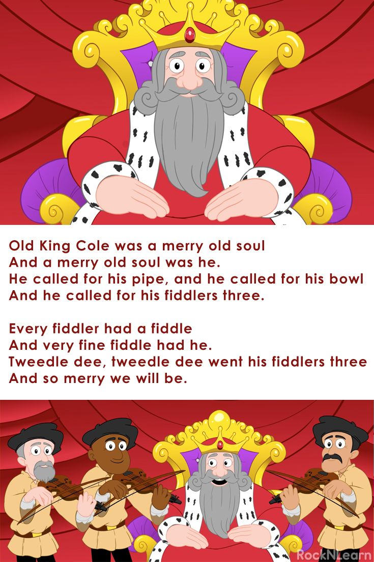 Old King Cole Is A Free Kids Nursery