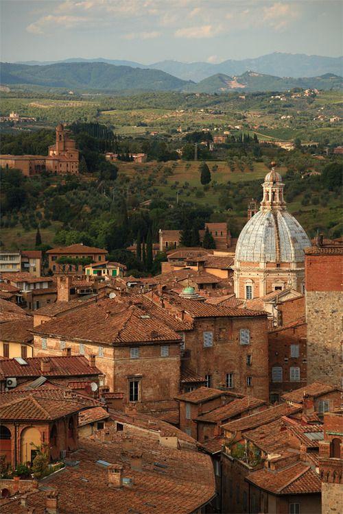Rooftops, Siena, Tuscany, Italy photo via abretumente - Blue Pueblo
