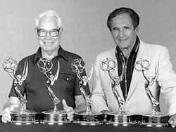 William Hanna and Joseph Barbera of Hanna-Barbera Productions. One of my greatest Childhood influences.