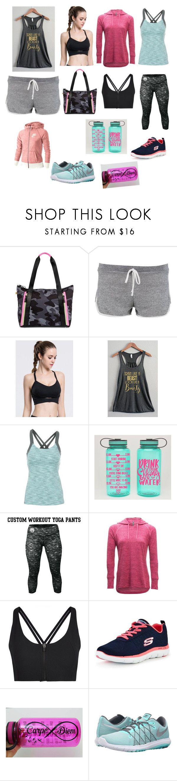 """Gym time"" by lolz-boyd ❤ liked on Polyvore featuring Monreal, Boohoo, Lucy, Kuhl, Sweaty Betty, Skechers and NIKE"