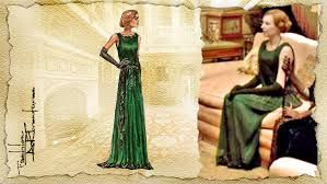 Image result for green dress downton abbey