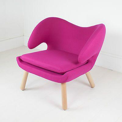 Finn Juhl Style Pelican Chair in Pink Cashmere