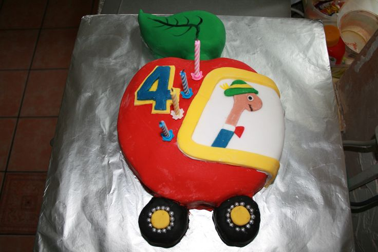 Richard Scarry's Lowly Worm cake