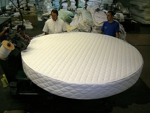 Example of a custom round mattress made by Rocky Mountain Mattress - we can do ANY SIZE!