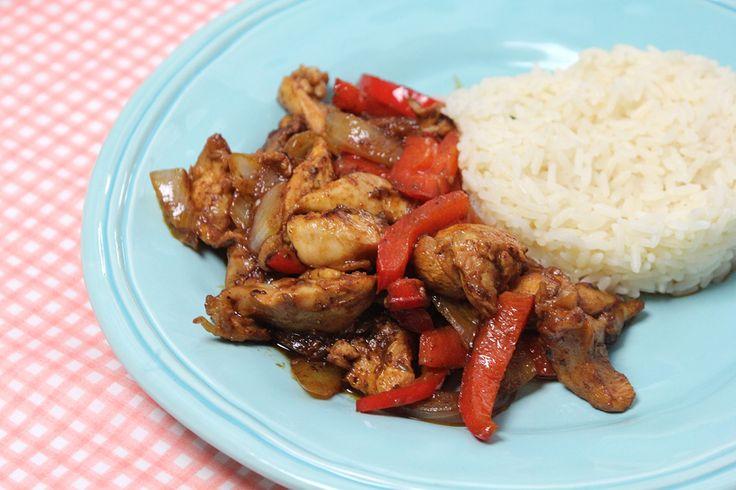 Gyros van kip met rijst