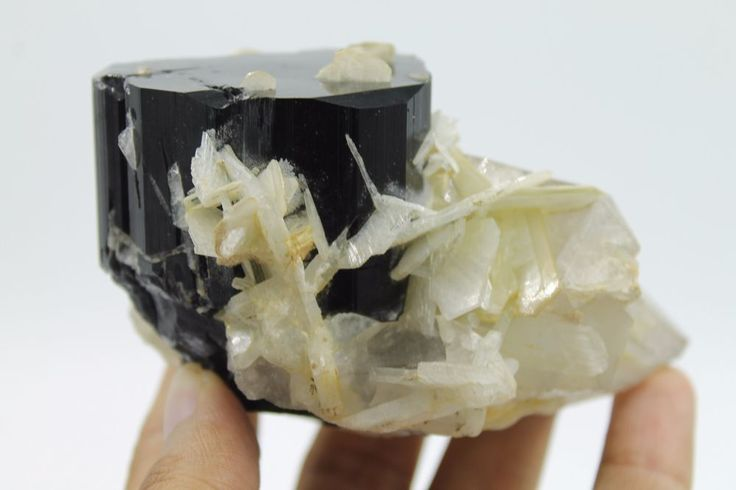 Black Tourmaline Specimen With Quartz and Mica from Pakistan