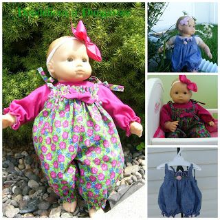 Dandelions n' Dungarees: The Birth of a Doll Pattern--free dungarees pattern for Bitty Baby