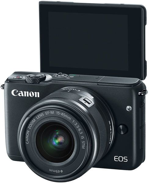 Canon: New, Compact EOS M10 Mirrorless: Features Include Self Portrait Mode for Easy Selfies, Built in Wi-Fi and NFC, Mobile Device Connect Button