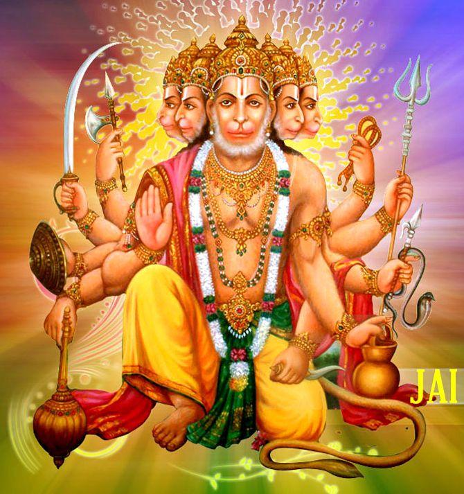 42 best panchmukhi hanuman images on pinterest hanuman hindus and idol - Panchmukhi hanuman image ...