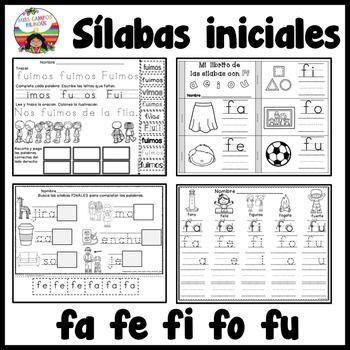 Kinder bilingue, preescolar bilingue, la letra F, silabas FA FE FI FO FU. Un paquete excelente para la lectoescritura y conocimiento fonologico. (abecedario, alfabeto) Incluye un juego de LOTERIA